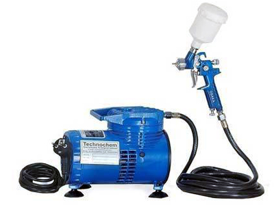 Mini Air Compressor with Touch up Spray Gun TI 140